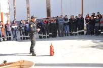İTFAİYECİLER - Bozüyük Belediyesi İtfaiyesinden Yangın Eğitimi