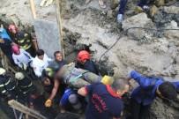 TOPRAK KAYMASI - Göçük Altından Çıkarılan İşçi Hayatını Kaybetti