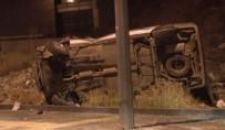 SAĞLIK EKİBİ - Başkent'te Kontrolden Çıkan Araç Takla Attı