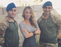 GAMZE ÖZÇELİK - Gamze Özçelik'ten Karkamış sınırındaki askerlere ziyaret