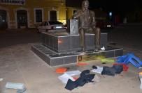 BOMBA İMHA UZMANI - Karaman'da Fünye İle Patlatılan Sırt Çantasından Kıyafet Çıktı