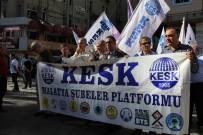 ANKARA EMNİYET MÜDÜRLÜĞÜ - KESK Basın Açıklaması İle Protesto Etti