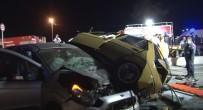 ALSANCAK - 3 Otomobil Birbirine Girdi Açıklaması 1 Ölü, 5 Yaralı