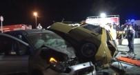ALSANCAK - İzmir'de Feci Kaza Açıklaması 1 Ölü, 5 Yaralı