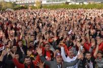 GIRESUNSPOR - Taraftarlar Eskişehirspor Maçını Bu Kez Dev Ekrandan Takip Etti