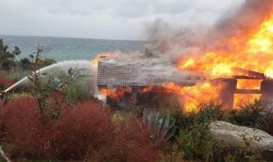 İş adamı Ali Ağaoğlu'nun villası yandı