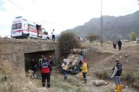 Konya'da Otomobil Şarampole Devrildi Açıklaması 1 Ölü, 1 Yaralı