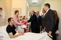 ŞAHINBEY ARAŞTıRMA VE UYGULAMA HASTANESI - Başbakan Yardımcısı Şimşek'ten Yaralı Polislere Ziyaret