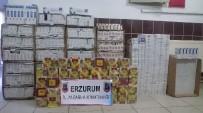 KAÇAK SİGARA - Erzurum'da 21 Bin 700 Paket Kaçak Sigara Ele Geçirildi