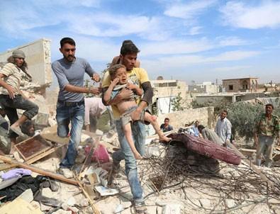 Halep'te hava saldırıları durduruldu