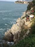 AMATÖR BALIKÇI - Amatör Balıkçıların Kayalıklarda Tehlikeli Balık Sevdası
