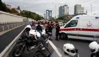OKMEYDANı - Emniyet Şeridine Giren Otomobil, Yunus Polislerine Çarptı