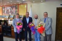 AHMET ZENGİN - Muhtarlardan Başkan Yaman'a Ziyaret