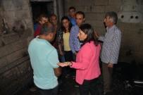 KAZANLı - Mutlu, Yangında Çocuklarını Kaybeden Aileyi Ziyaret Etti