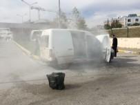 PARA NAKİL ARACI - Para Nakil Aracı Adliye Kampüsü İçinde Yandı