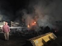 SAMANLıK - Köyde Çıkan Yangında 2 Büyükbaş Hayvan Telef Oldu