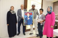 BELEDİYE MECLİS ÜYESİ - Iraklı İnşaat Mühendisi, Başkan Çalışkan'a Tablo Hediye Etti