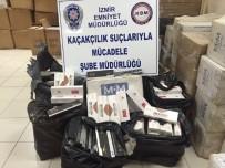 SIGARA - İzmir'de Saman Balyaları Arasında, Kaçak Sigara Ele Geçirildi