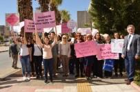 KANSER TARAMASI - Meme Kanserine Dikkat Çekmek İçin Yürüdüler