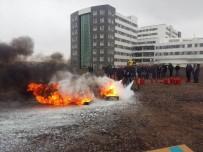 ORGANİZE SANAYİ BÖLGESİ - NKÜ'de Yangın Söndürme Eğitimi