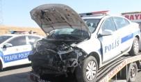 BOZOK ÜNIVERSITESI - Yozgat'ta Uygulama Yapan Trafik Polislerine Otomobil Çarptı