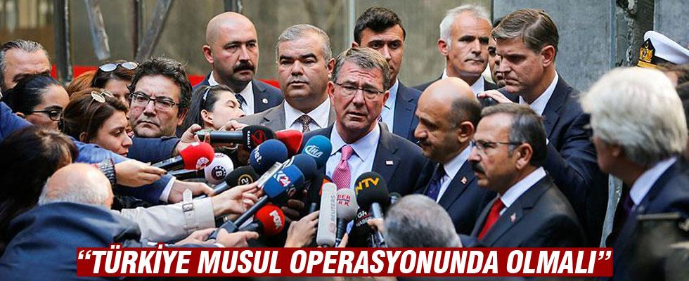 ABD Savunma Bakanı: Türkiye Musul operasyonunda olmalı