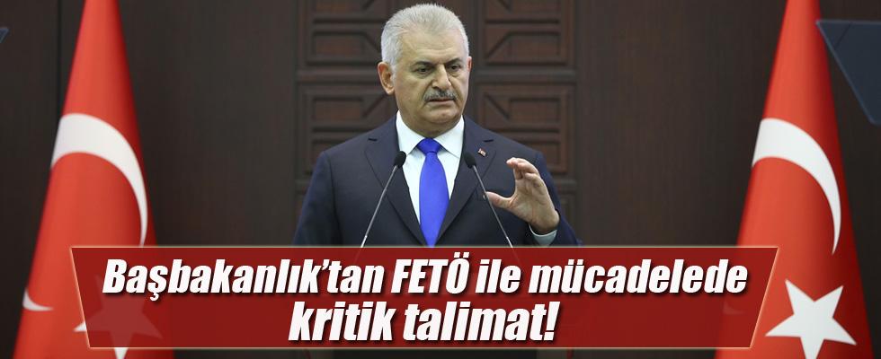 Başbakanlık'tan FETÖ ile mücadelede kritik talimat