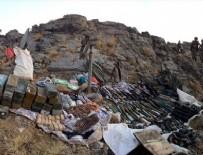 KOMANDO TUGAYI - Dilekli Hisar Dağı'nda teröristlerin 'cephaneliği' bulundu