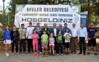 ÖDÜL TÖRENİ - Efeler Belediyesi Cumhuriyet Kupası Tenis Turnuvası Başladı