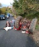 SARMAŞıK - Zonguldak'ta Traktör Kazası Açıklaması 1 Yaralı