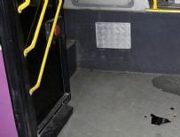 OKMEYDANı - Belediye otobüsüne molotof attılar