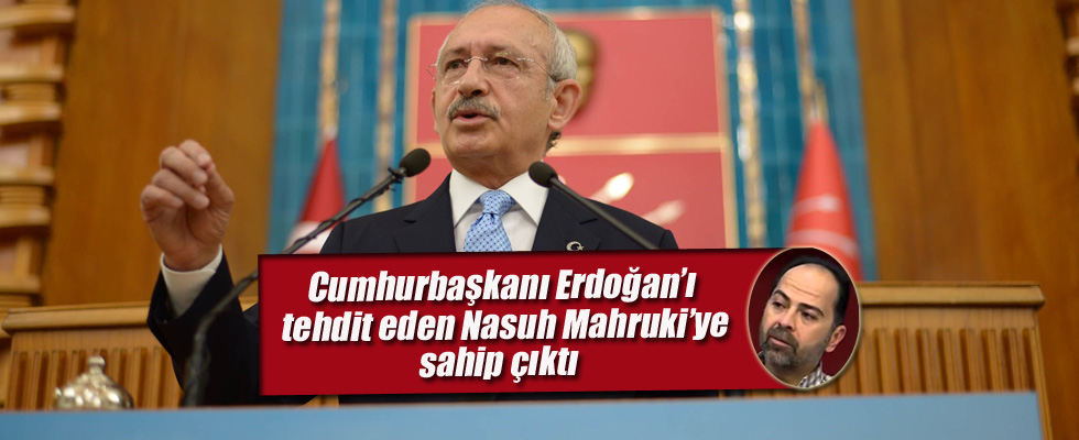 Erdoğan'ı tehdit eden Nasuh Mahruki'ye sahip çıktı