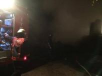 BÜYÜKBAŞ HAYVANLAR - Samanlık Yangını İtfaiye Ekiplerince Söndürüldü