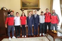 BASKETBOL TAKIMI - Edirnespor Kulübü'nün Sporcularından Belediye Başkanı Gürkan'a Ziyaret