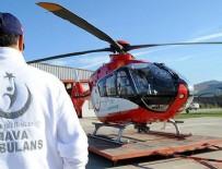 KARADENIZ - Hava ambulans ekibinin zamanla yarışı