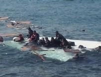 LIBYA - Libya açıklarında tekne battı