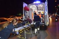 MİMAR SİNAN - Manisa'da Trafik Kazası Açıklaması 1 Yaralı