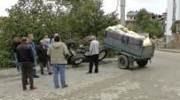 HAFRİYAT KAMYONU - Traktörün Altında Kaldı, Burnu Bile Kanamadı
