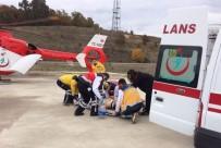 AMBULANS HELİKOPTER - İnşaattan Düşen Gencin Yardımına Ambulans Helikopter Yetişti