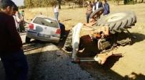 KARAHISAR - Tavas'ta Otomobil Traktöre Çarptı Açıklaması 1 Ölü, 1 Yaralı