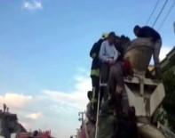TAHRAN - Beton Mikserine Kafası Sıkışan İşçinin Ölüm Kalım Mücadelesi