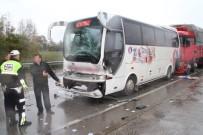 YOLCU MİNİBÜSÜ - D-100 Karayolu Üzerinde Zincirleme Trafik Kazası Açıklaması 6 Yaralı