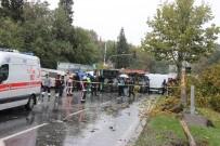 TRAFİK YOĞUNLUĞU - Kontrolden Çıkan Beton Mikseri 6 Aracı Biçti Açıklaması 1 Ölü, 7 Kişi Yaralı