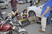 Motosikletle Otomobil Çarpıştı Açıklaması 1 Yaralı