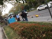 İTFAİYECİLER - Beşiktaş'ta Otomobilin Çarptığı Taksi Metrelerce Sürüklendi