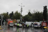 TRAFİK YOĞUNLUĞU - Sarıyer'deki Kaza Sonrası Trafik Durdu