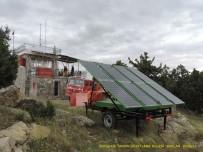 BUZDOLABı - Denizli'de Yangın Gözetleme Kulesinin Elektriği Güneş Enerjisinden