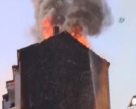 TÜP PATLADI - Koltukta Başlayan Yangın Binayı Sardı