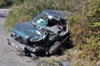 Soma'da Trafik Kazası Açıklaması 1 Yaralı