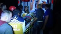 İNŞAAT ALANI - 4 Metreden İnşaat Alanına Düşen Kadın Ağır Yaralandı